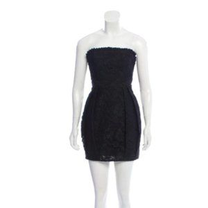 ALICE + OLIVIA strapless Mini Dress black lace 6